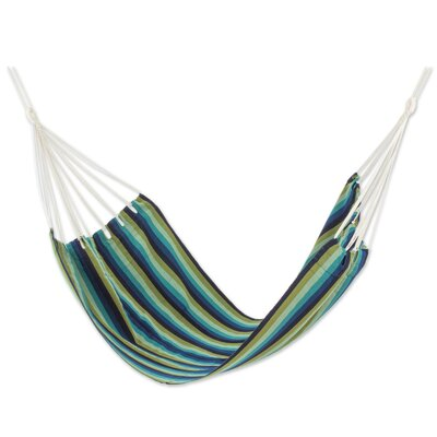 Hand-Woven Single Tree Hammock Color: Cloudy Forest