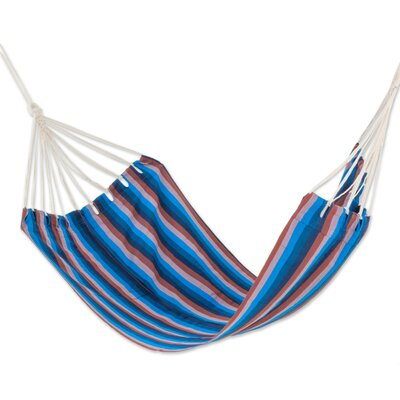 Hand-Woven Single Tree Hammock Color: Beauty of the Lake