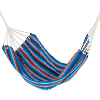 Hand-Woven Double Tree Hammock Color: Beauty of the Lake, Size: 85 D x 74 W