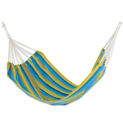 Hand-Woven Double Tree Hammock Color: Happy Day, Size: 85 D x 62 W