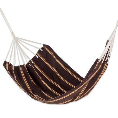 Hand-Woven Double Tree Hammock Color: Sandy Path, Size: 75 W x 85 D