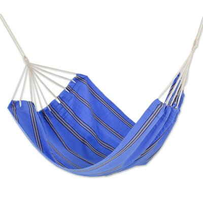 Hand-Woven Double Tree Hammock Color: Sky and Sea, Size: 75 W x 85 D