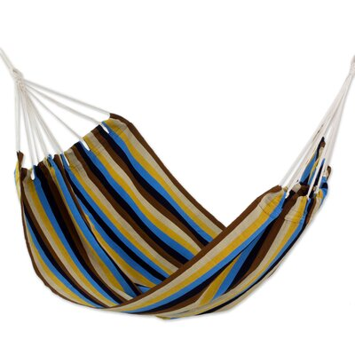 Hand-Woven Double Tree Hammock Color: Tropical Breeze, Size: 85 D x 74 W