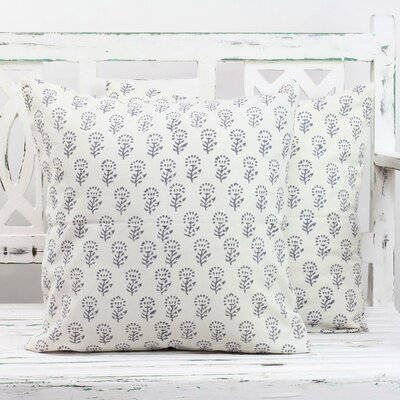 Flowers of Stone 100% Cotton Pillow Cover