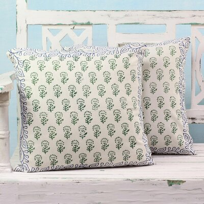 Garden 100% Cotton Pillow Cover