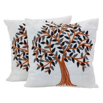 Summer Quiet 100% Cotton Throw Pillow Cover