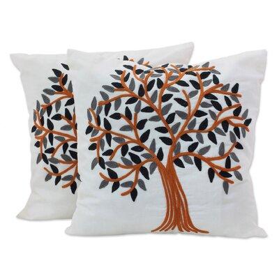 Summer Quiet 100% Cotton Throw Pillow Cover