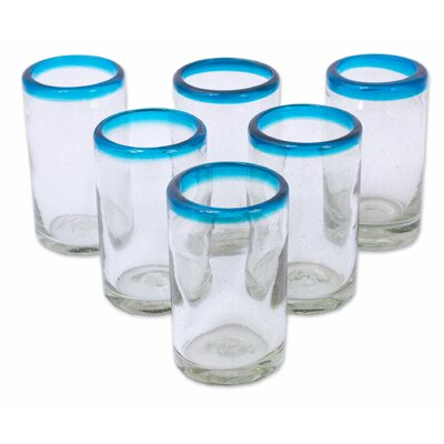 Sky Blue Halos Recycled 8 oz. Old Fashioned Glass 290181