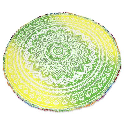 Sun Petals Green/ Yellow Area Rug