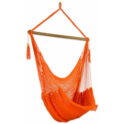 Tropical Tangerine Cotton Chair Hammock