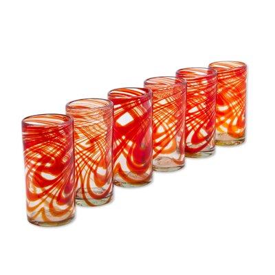 Terresa Crimson Serpentines 13 oz. Highball Glass