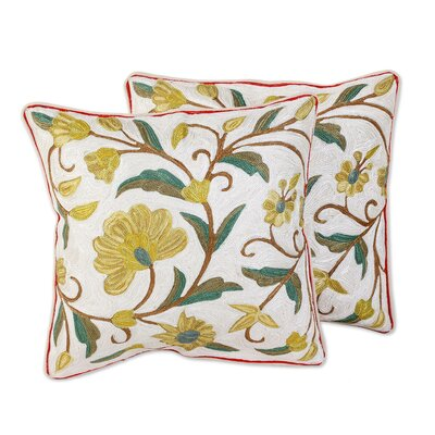 Nina Sunny Peony 100% Cotton Pillow Cover