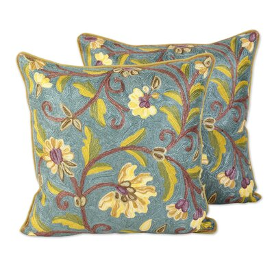 Nina Peony 100% Cotton Pillow Cover