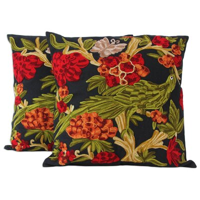 Cheyanne Midnight in the Garden Cotton Pillow Cover