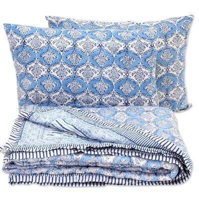 Euramo 3 Piece King Size Reversible Quilt Set