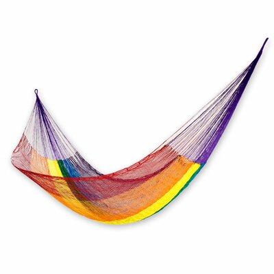 Maya Artists of the Yucatan Nylon Tree Hammock Color: Dreaming of Rainbows, Size: 3.9 X 13.1