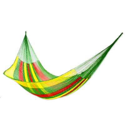 Maya Artists of the Yucatan Nylon Tree Hammock Color: Tropical Passion, Size: 7.2 X 12.8