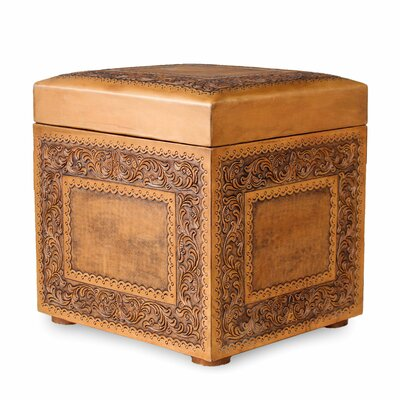Mclane Golden Ivy Leather Ottoman