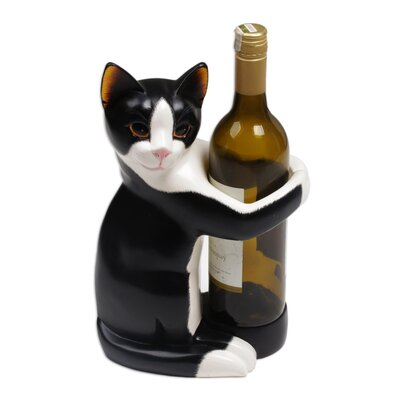 Enyeart Kitty Clasp Wood Wine Bottle Holder