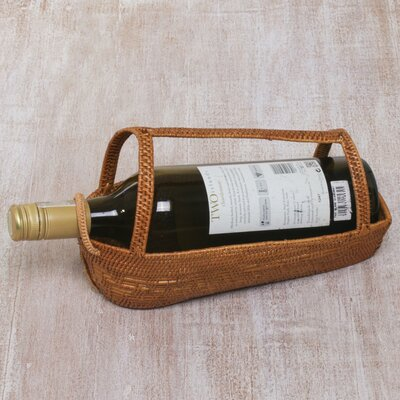 Mulhern Natural Companion Pandan Leaf Wine Bottle Holder