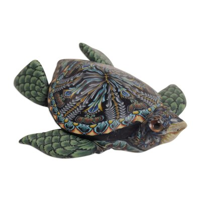 Claar Vibrant Sea Turtle Sculpture 7D83BE279A944DA1AB3ACEAE85256544