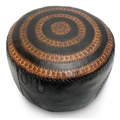 Sangiacomo Star Leather Pouf