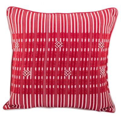 Boaz Crimson Paths 100% Cotton Pillow Cover