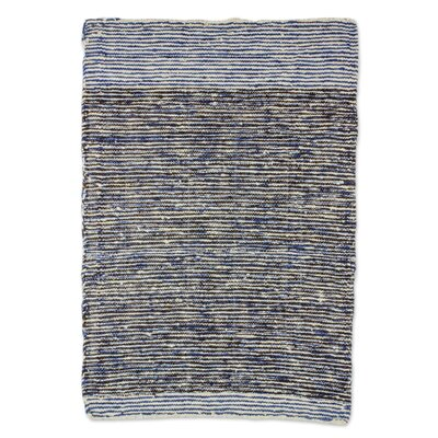 Ritz Hand-Woven Wool Gray Area Rug