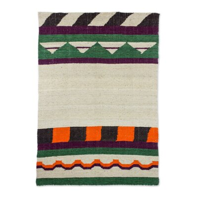 Rivage Mountain Hand-Woven Wool Beige/Green Area Rug