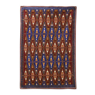 Ratcliffe Valley of Fire Hand-Woven Wool Brown Area Rug