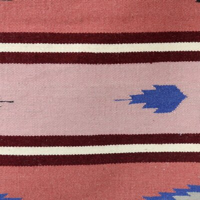 Mucci Dhurrie Revive Hand-Woven Wool Pink Area Rug