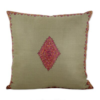 Bourn Diamond Delight Wool Pillow Cover Color: Green
