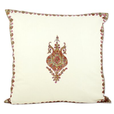 Rodborough Wool Pillow Cover Color: Ivory