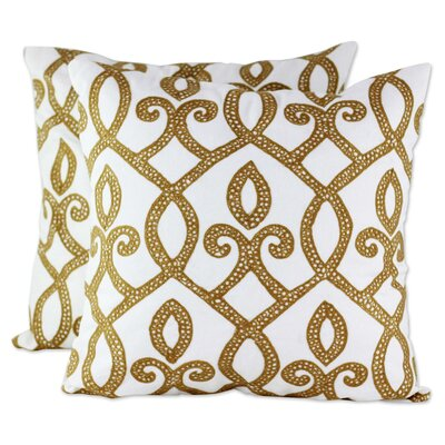 Barton 100% Cotton Pillow Cover Color: Ivory