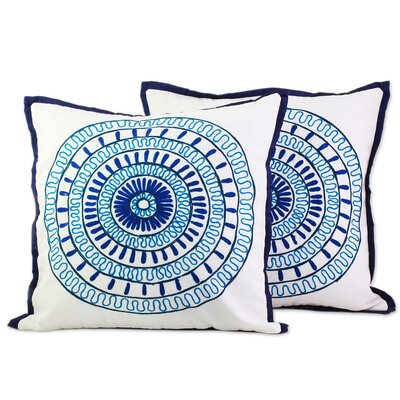 Bontang Alluring Blue 100% Cotton Pillow Cover