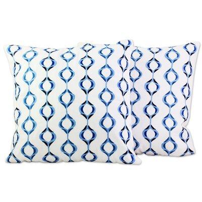 Georgi 100% Cotton Pillow Cover Color: Blue
