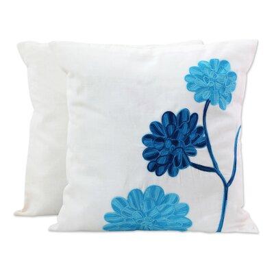 Espinal Dahlia Flowers 100% Cotton Pillow Cover