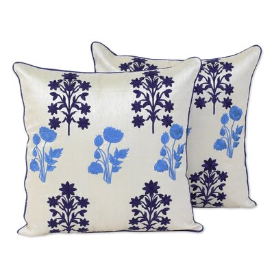 Roseboro Embroidered 100% Cotton Pillow Cover