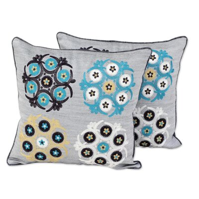 Boulware Myriad Mosaic Embroidered Cushion Pillow Cover