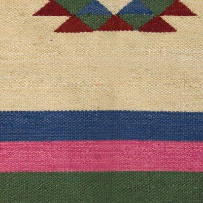 Rimini Starry Hand-Woven Wool Green/Beige Area Rug