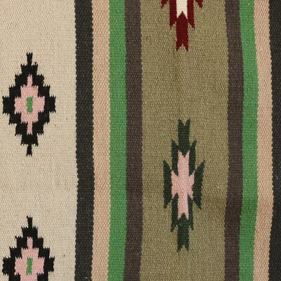 Richins Sunset Memories Hand-Woven Wool Red/Beige Area Rug