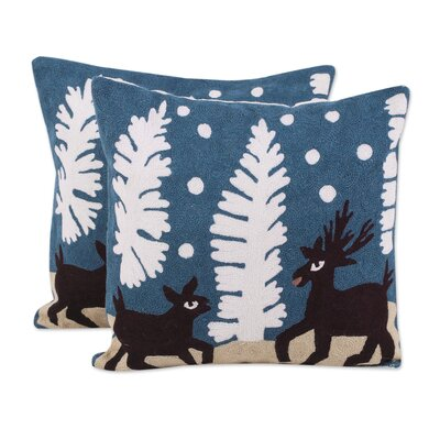 Espey Deer in Love 100% Cotton Pillow Cover