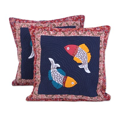 Rothesay Fish Bliss 100% Cotton Pillow Cover
