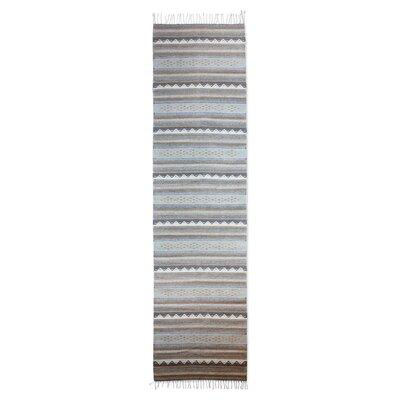 Mcfarlin Hand-Woven Wool Soft Gray/Warm Brown Area Rug