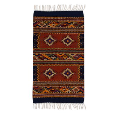 Redcastle Hand-Woven Wool Brown Area Rug