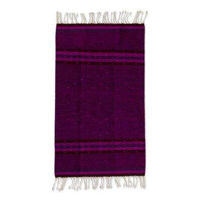 Ricketson Hand-Woven Wool Purple Area Rug