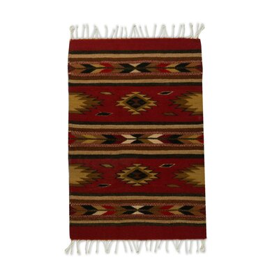 Rhoden Russet Hand-Woven Wool Red Area Rug