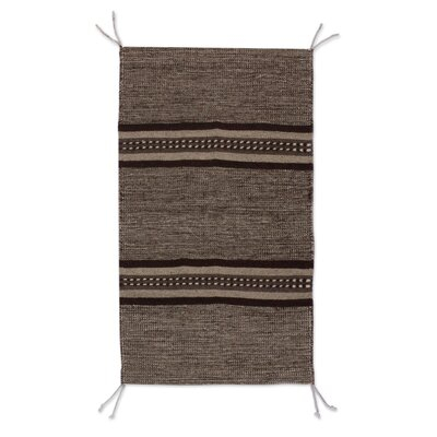 Rhinecliff Hand-Woven Wool Gray Area Rug