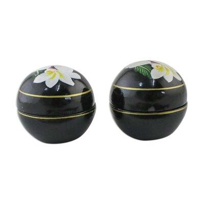 Vranduk Plumeria Charm 2 Piece Decorative Box B59CCCA8A1FC44378AB40CB29A093564