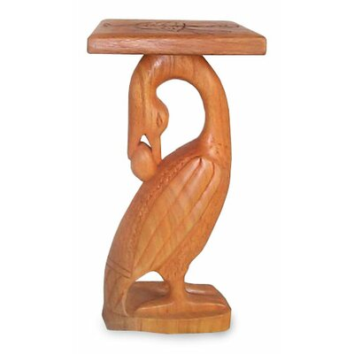 Sheperd Look-Back Bird Wood End Table